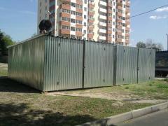 Metal garage of corrugated Board