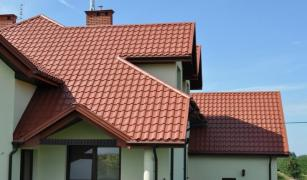 Products for roofing are on sale: metal tiles, corrugated board